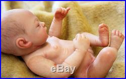 10Handmade Reborn Baby Doll girl Newborn Lifelike Full Body Silicone Vinyl Xmas
