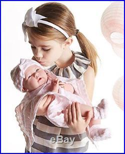 15''Handmade Lifelike Baby Girl Doll Silicone Vinyl Reborn Newborn Dolls+Clothes