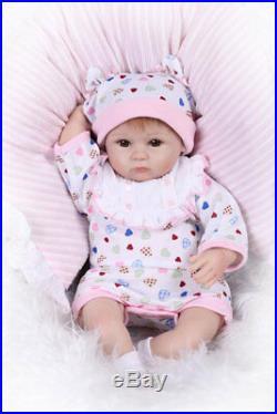 2bfe00b9de699a 16 Lifelike Cute Reborn Baby Soft Silicone Vinyl Girl Baby Doll Handmade
