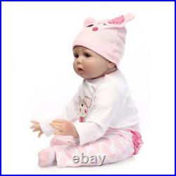 16'' Lifelike Newborn Babies Silicone Vinyl Reborn Baby Dolls Handmade Xmas Gift