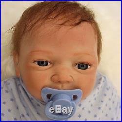 18 Handmade Lifelike Reborn Boy Doll Soft Silicone Vinyl Newborn Baby Doll