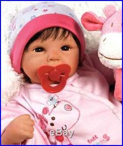 19'' Lifelike Baby Girl Doll Silicone Vinyl Reborn Newborn Dolls+Clothes