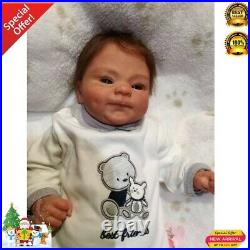 19 inch reborn baby doll cocomalu detailed hand painting lifelike real touch