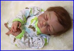 2050cm 100% Handmade Reborn Baby Girl Doll Newborn Lifelike Soft Vinyl silicone