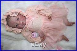 20 100% Handmade Reborn Baby Doll Girl Lifelike Soft Vinyl Silicone Sweet Dolls