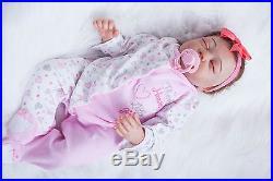 20 100% Handmade Reborn Baby Girl Newborn Lifelike Soft Vinyl silicone doll
