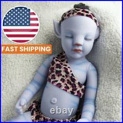 20 Avatar Sleep Silicone Reborn Blue Baby Boy Vinyl Newborn Xmas Doll Gift US