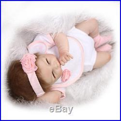 20 Handmade Baby Girl Doll Wedding Gift Silicone Vinyl Reborn Dolls+Clothes