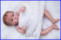 20''Handmade Lifelike Baby Girl Reborn Newborn Dolls+Clothes Doll Silicone Vinyl