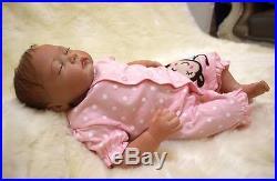 20'' Handmade Newborn doll Reborn Baby Girl Lifelike Vinyl silicone kids gift