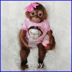 20 Realistic Reborn Monkey Baby Dolls Soft Vinly Handmade Cute Monkey Girl Doll