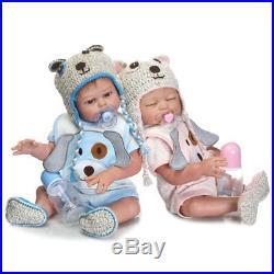 20 Realistic Reborn Newborn Baby Doll Full Silicone Dolls Bath Boy + Girl Twins