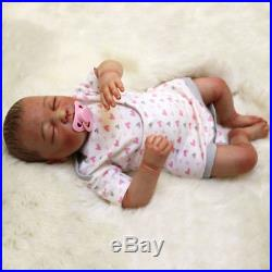 20 Reborn Baby Boy Doll Soft Vinyl Silicone Lifelike Soft Doll Birthday Gifts