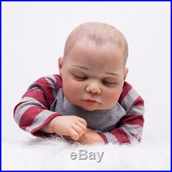 20 Soft Vinyl Realistic Handmade Reborn Baby Sleeping Doll Lifelike Newborn