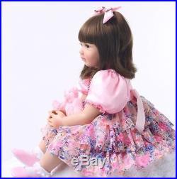 22Realistic Reborn Baby Dolls Newborn Lifelike Vinyl Silicone Toddler Doll Girl