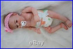 22 100% Handmade Reborn Baby Doll Girl Newborn Lifelike Soft Vinyl silicone