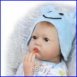 22 A Pair of TWINS Reborn Babies cute Dolls silicone Vinyl Handmade Realistic