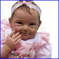 22 Baby Handmade Lifelike Baby Girl Doll Silicone Vinyl Reborn Baby Newborn