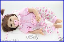 22 Handmade Lifelike Baby Girl Doll Silicone Vinyl Reborn Baby Newborn Gift