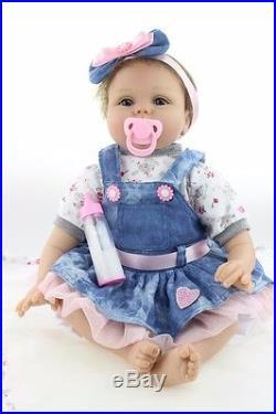 22 Handmade Silicone Vinyl Reborn Doll Gift Baby Dolls Lifelike Baby Newborn