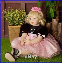 22 Handmade Vinyl Silicone Reborn Baby Dolls Lifelike Toddler Girl Doll Gift