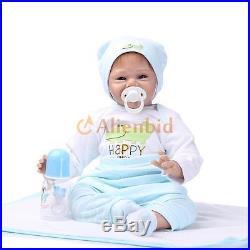 22 Lifelike Baby Boy Girl Solid Silicone Reborn Newborn Dolls with Clothes US