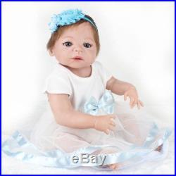 22 Lifelike Newborn Babies Girl Doll Full Body Vinyl Silicone Reborn Baby Doll