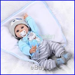22 NPK Full Body Solid Silicone Lifelike Baby Dolls Preemie Handmade Xmas Gift