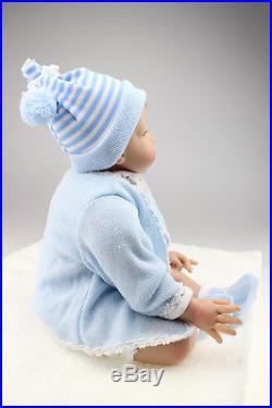 22'' Newborn Doll Handmade Realistic Reborn Silicone Vinyl Lifelike Baby Doll