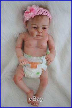 22'' Real Lifelike Reborn Baby Doll Full Body Silicone Vinyl Newborn Dolls Girl