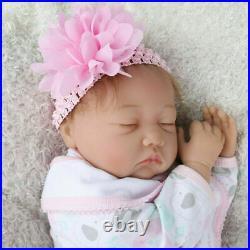 22 Realistic Girl Reborn Dolls Vinyl Silicone Soft Lifelike Newborn Baby Doll