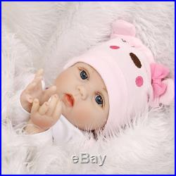 22 Realistic Reborn Baby Dolls Handmade Newborn Vinyl Silicone Girl Doll
