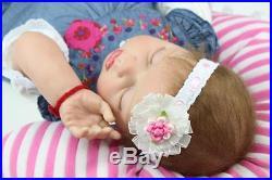 22'' Realistic Vinyl Reborn Baby Dolls Boy Girl Handmade Lifelike Newborn Gift