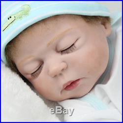 22 Reborn Baby Doll Handmade Full Body Silicone Vinyl Sleeping Boy Dolls Bath