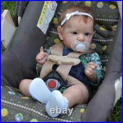 22'' Reborn Baby Dolls Vinyl Silicone Handmade Newborn Girl Doll Lifelike Gifts
