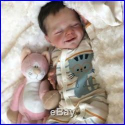 22 Reborn Doll Little David Reborn Baby Boy Handmade Vinyl Silicone Boy Doll