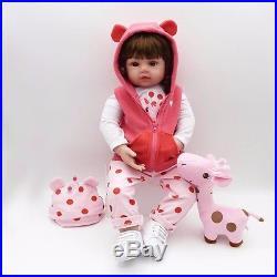 22'' Reborn Handmade Lifelike Newborn Girl Doll Silicone Vinyl Baby Doll Gift