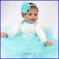 22 Soft Reborn Baby Dolls Realistic Vinyl Silicone Newborn Baby Girl Doll Gifts