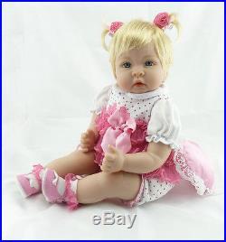 22 Toddler Handmade Reborn Baby Doll Girl Vinyl Silicone Lifelike baby toy Gift