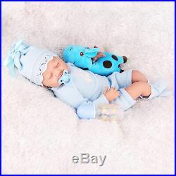 22'Twins Reborn Baby Dolls Newborn Babies Vinyl Silicone Handmad e Doll Girl+Boy