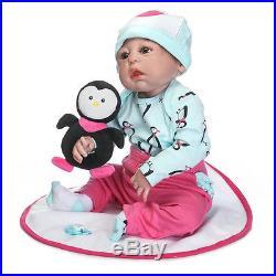 23Full Body Reborn Baby Girl Newborn Lifelike Handmade Silicone Soft Vinyl Doll