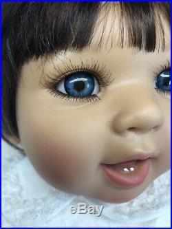 23 Doris Stannat Limited Vinyl Baby Doll 2012 Adorable Brunette With Blue Eyes