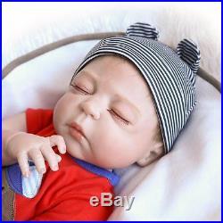 23 Full Body Silicone Reborn Baby Sleeping Doll Soft Vinyl Lifelike Newborn Boy