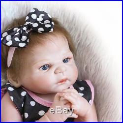 23 Handmade Silicone Full Body Baby Dolls Newborn Vinyl Reborn Girl Doll-USA
