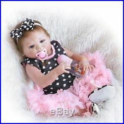 23 Newborn Handmade Reborn Baby Doll Full Body Silicone Vinyl Girl