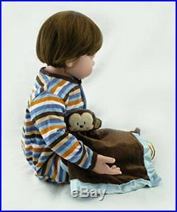 24Inch Reborn Twin Girl Boy Dolls Realistic Looking Newborn Baby Doll Toddler