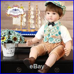 24'' Handmade Reborn Toddler Dolls Soft Vinyl Lifelike Exquisite Baby Boy Doll