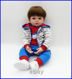 24'' Realistic Reborn Toddler Boy Lifelike Baby Doll Soft Body Silicone Vinyl