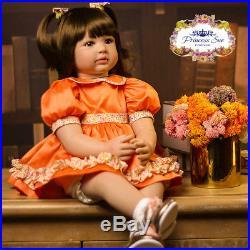 24'' Reborn Toddler Princess Girl Doll Handmade Realistic Vinyl Alive Baby Dolls