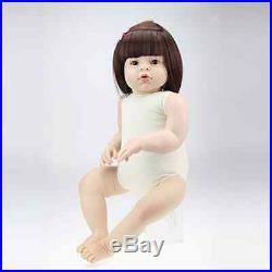 28''Handmade Lifelike Baby Girl Doll Silicone Vinyl Reborn Newborn Dolls